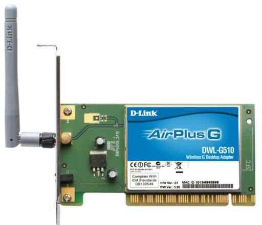 WI-FI адаптер D-link airplus G dwl-g510 PCI