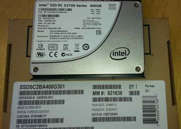 SSD Intel S3700 400GB Enterprise