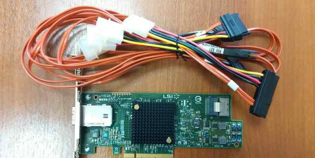 LSI Logic SAS контроллер SAS 9207 - 4I4E