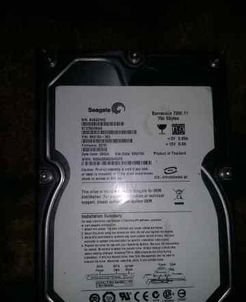 HDD Barracuda 750 GB 7200.11