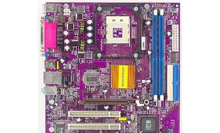 ECS 651-M V1.0 + Процессор 1.7 ггц + Кулер