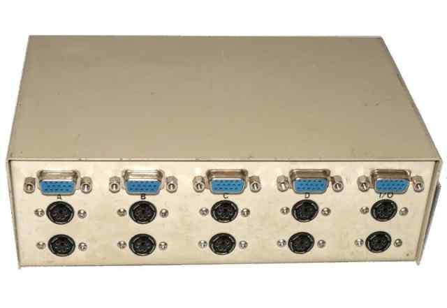 Коммутатор 1 монитор на 4 компьютера