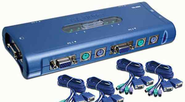 KVM Trendnet TK-400 + полный комплект