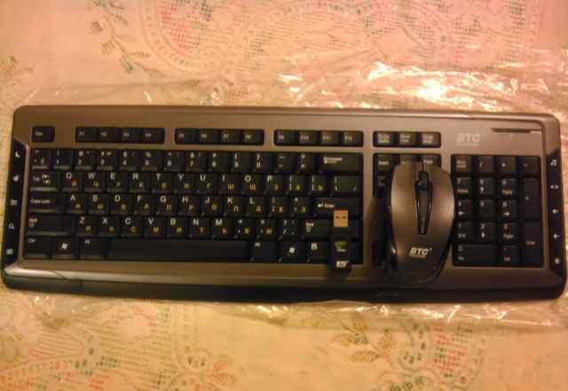 Беспроводная клавиатура и мышь BTC 9089urfiii