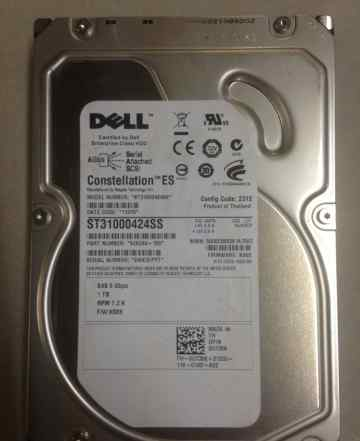 Жесткий диск (HDD) Dell 1TB SAS 6GB/s 7.2K 3.5