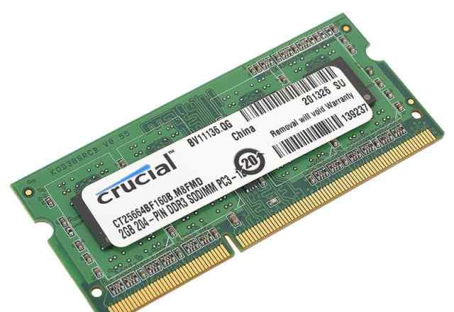 SO-DDR3 2Gb PC12800 1600MHz Crucial CT25664BF160B
