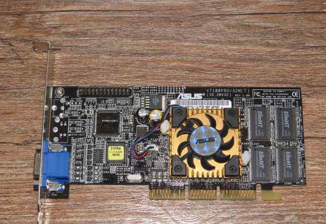 Видеокарта AGP asus V7100 PRO 32M GeForce 2 MX 400