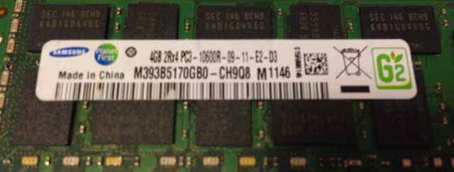 Samsung 4Gb 2Rx4 PC3-10600R-09-11-E2-D3