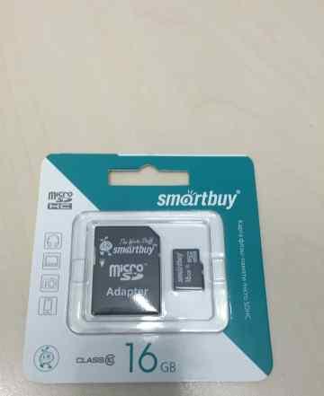 Micro sdhc карта памяти 16Gb Class 10