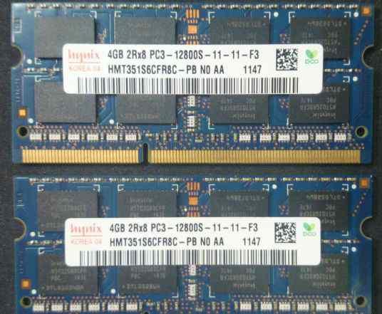 Память RAM для ноутбука SO-dimm DDR3 4GB и 8GB