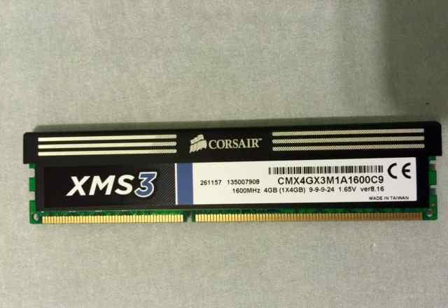 Corsair DDR3 1600MHz 4GB