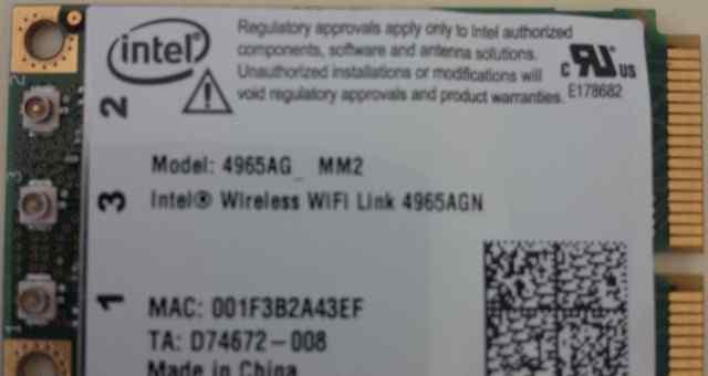 Wi-Fi карта для ноутбука HP Intel 4965 AGN