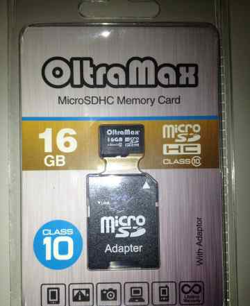 Новая карта памяти micro SD 16Gb 10 class