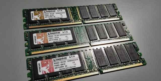 DDR dimm Kingston 256Mb PC-3200 5шт