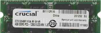 Sodimm DDR3 4Gb PCL crucial CT51264BF160B