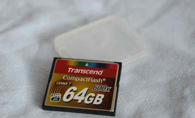 CF 64GB Transcend 600X TS64GCF600 как новая
