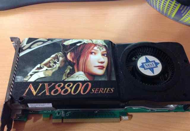 Видеокарта MSI GeForce 8800 GTS 512Mb нерабочая