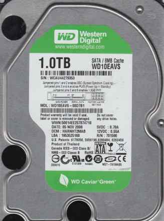 WD 1TB Донор wd10eavs 8mb cache