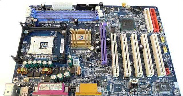 Неисправная материнская плата gigabyte GA-8PE667