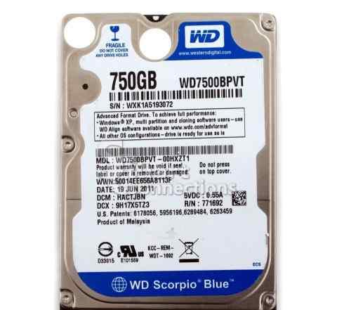 HDD 2.5 750 Gb Western Digital WD7500bpvt