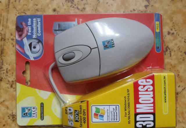 Мыши компьютерные PS/2 новые 2шт