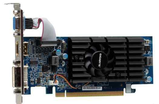 Б/у Видеокарта 512mbgigabyte GV-N210D2-512I
