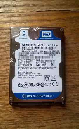 Жёсткий диск для ноутбука Western Digital 640GB