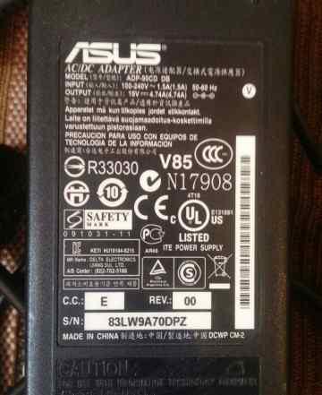 Оригинальная зарядка для ноутбука Аsus