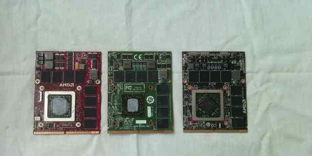 Видеокарты для ноутбука Radeon 4870m 5870m 7970m