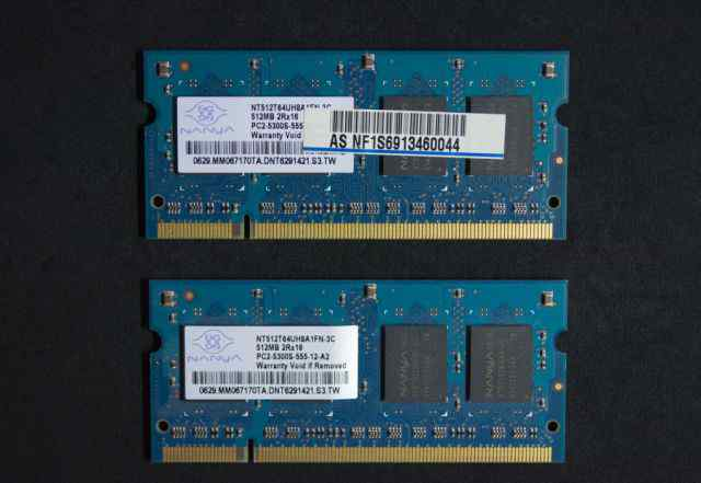 Nanya SO-dimm DDR2-667 (PC2-5300) 512 MB x 2