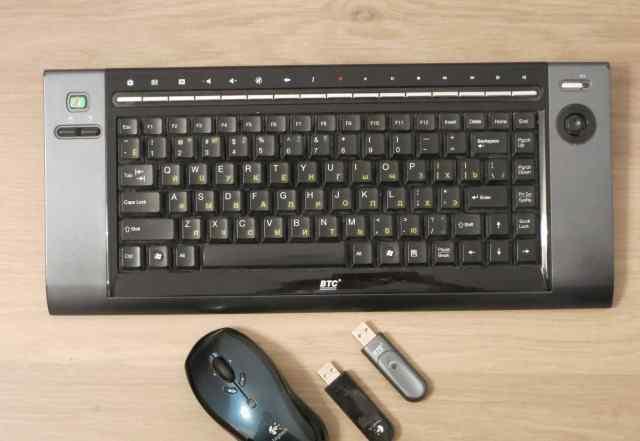 Клавиатура BTC и мышь Logitech беспроводные