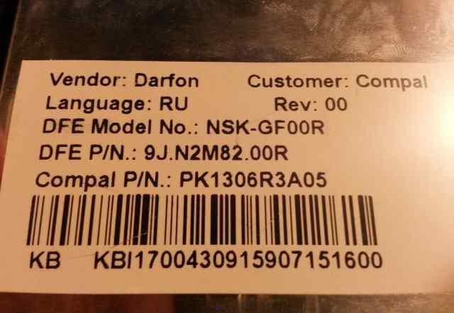 Клавиатура для ноутбуков NSK-GF00R