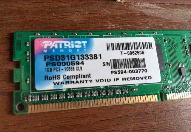 Patriot Memory PSD31G133381 2 gb гб (2x1)