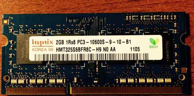 2 планки Hynix 2Gb PC-3-10600
