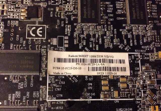 Видеокарта Radeon 9600XT