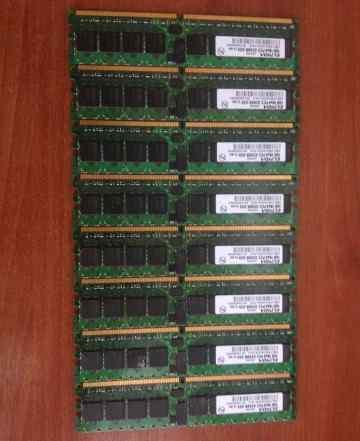 DDR2 8шт. x1GB 1Rx4 Elpida PC2-3200R-333
