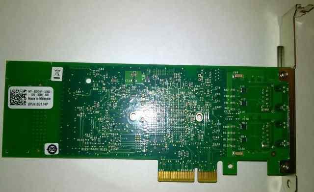 Серверный гигабитный двухпортовый сетевой адаптер