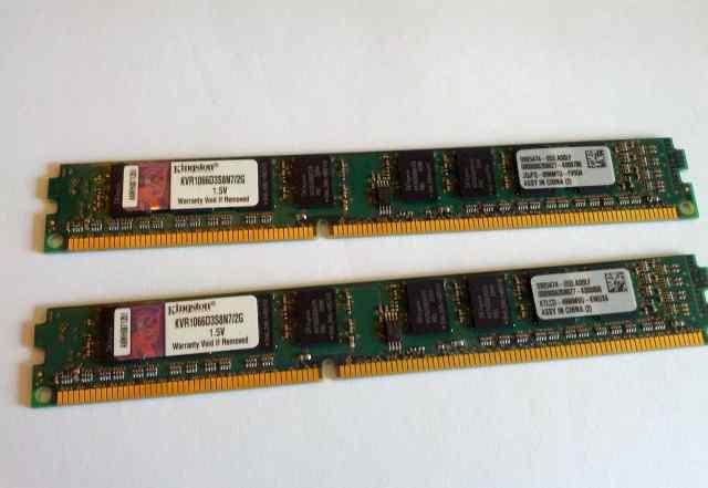 Kingston KVR1066D3S8N7 4GB (2x2) низкопрофильная