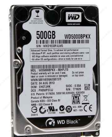 Новый жесткий диск 2.5 WD 500GB WD5000bpkx