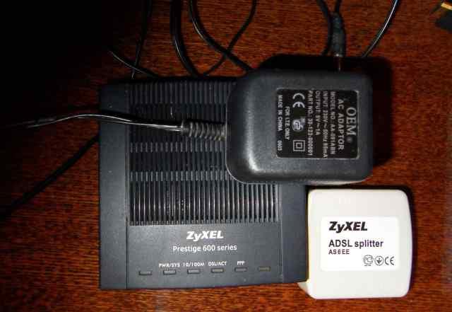 Модем adsl2+ Zyxel P-660R EE с портом Ethernet б/у