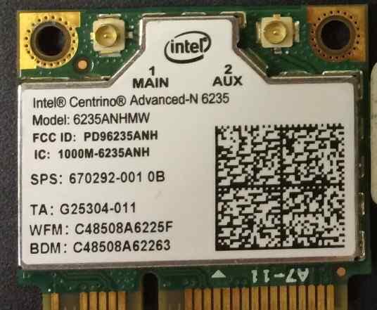 Intel 6235anhmw - mini PCI-E Bluetooth+ Wi-Fi-адап