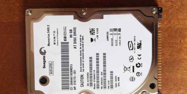 Жёсткий диск для ноутбука Seagate 80 Гб