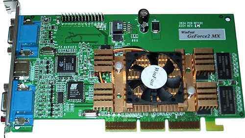 Leadtek GeForce2 MX DH PRO (RTL) dualvga+ TV Out