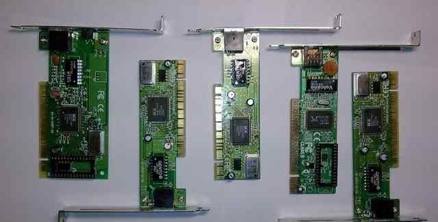 Сетевые платы Fast Ethernet Pci 10/100 5 штук