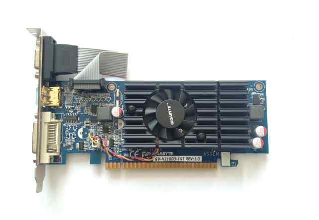 Видеокарта Gigabit nvidia 210 1gb memory