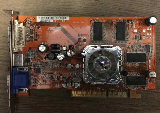 Asus A9550GE Radeon 9550 250Mhz AGP 128Mb 400Mhz