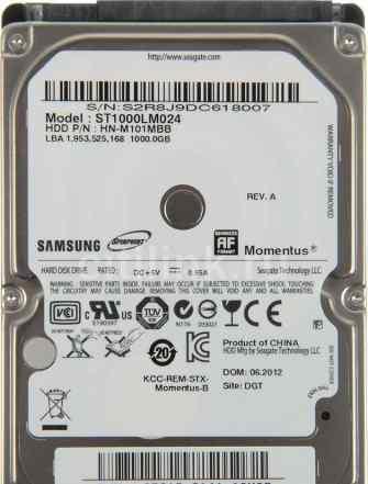 Жесткий диск seagate (samsung) Momentus ST1000LM02