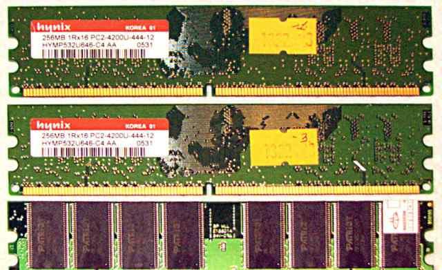 Память DDR2 256MB + 256MB + 512 MB