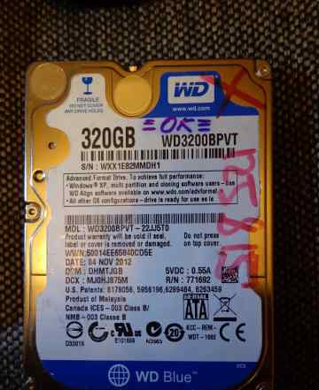 HDD WD 320 GB 2.5