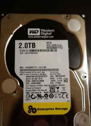 Жёсткий диск Western Digital WD Re 2TB